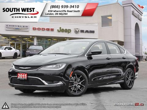 Pre-Owned 2015 Chrysler 200 Limited | 5 Screen | uConnect | Heated Seats | 17 Wheels FWD 4dr Car
