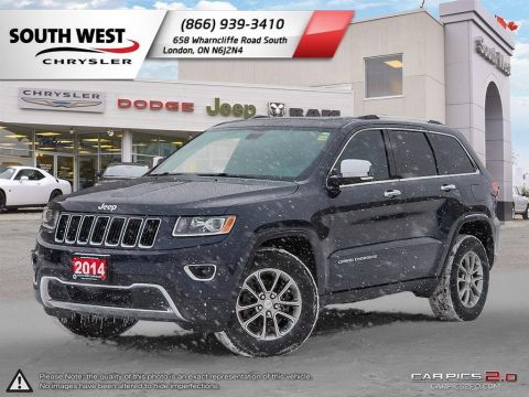 Pre-Owned 2014 Jeep Grand Cherokee | Limited | GPS |  4x4 | Sunroof | Heated Seats and Wheel | 8.4 Screen 4WD