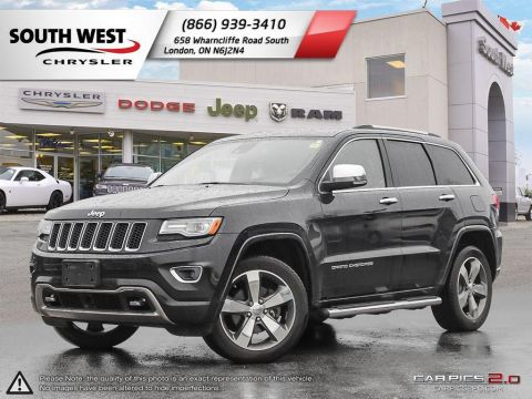 Pre-Owned 2015 Jeep Grand Cherokee | Overland | Heated/Cooled Seats | GPS | 4X4 | Advanced Safety 4WD