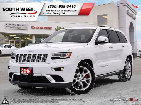 Pre-Owned 2015 Jeep Grand Cherokee | SUMMIT | GPS | Heated Seats & Steering | 4WD