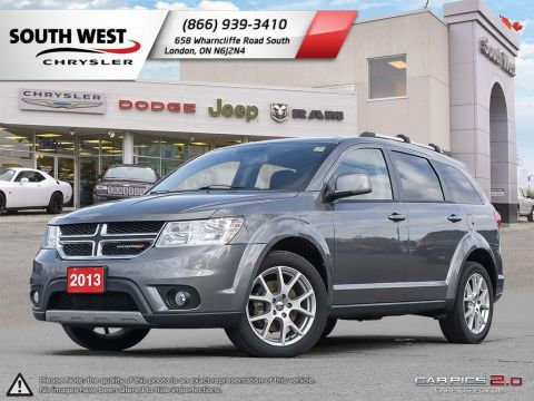 Pre-Owned 2013 Dodge Journey | 7 Passenger | uConnect | Heated Wheel & Seats | Rear DVD FWD Station Wagon