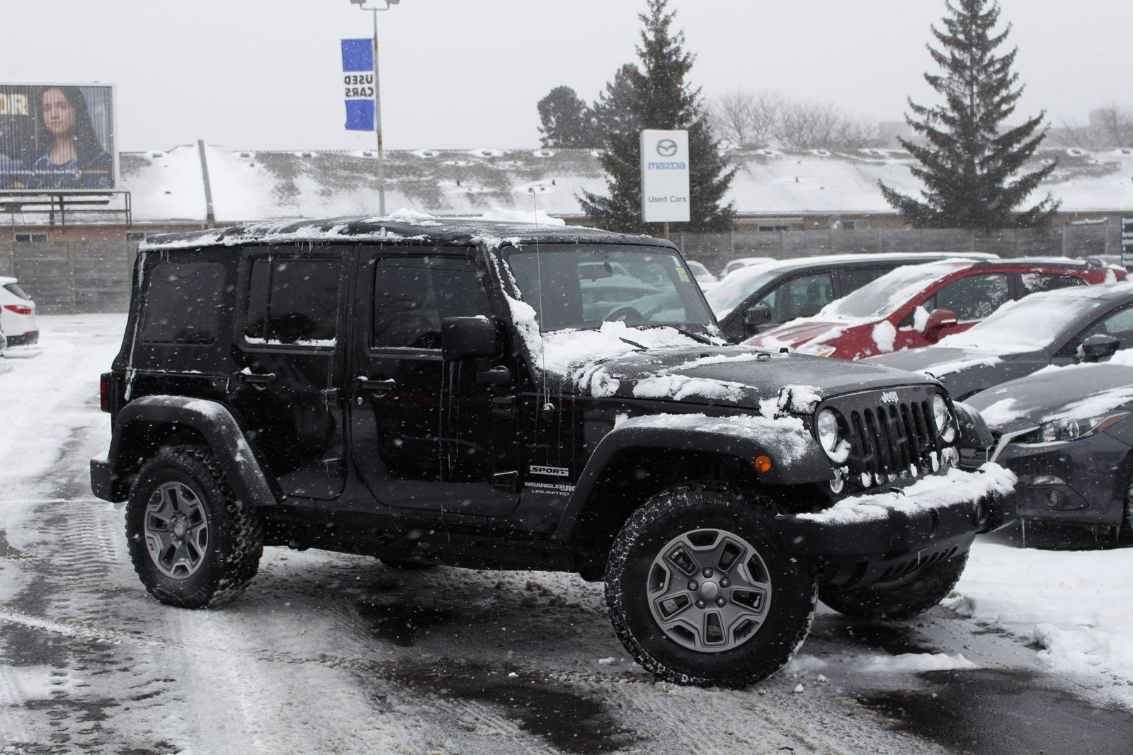 Pre-Owned 2018 Jeep Wrangler JK Unlimited | Sport | A/C | Cruise | On/Off–Road tires