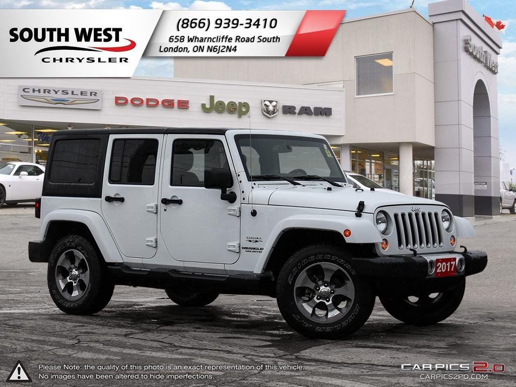 Pre-Owned 2017 Jeep Wrangler Unlimited | Sahara | GPS | Remote Start | Sirius