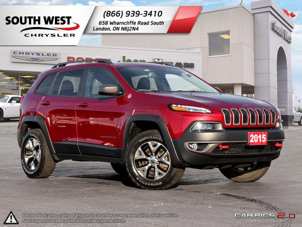 Pre-Owned 2015 Jeep Cherokee | Trailhawk | Leather | Heated Seats & Wheel | Cruise | Bluetooth