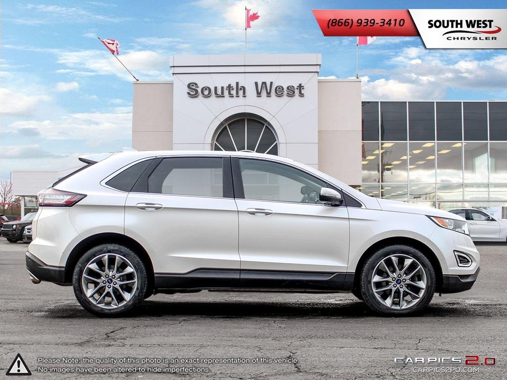 Pre Owned  Ford Edge Titanium Leather Dual Pano Roof Comes