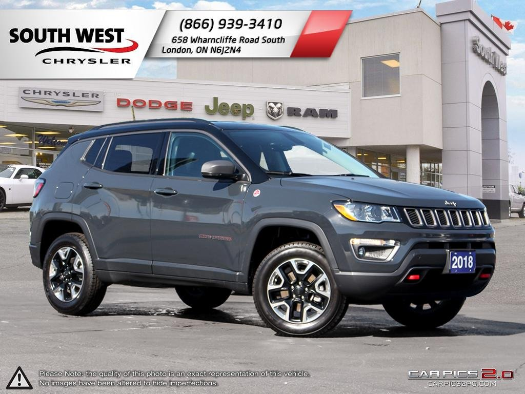 Pre-Owned 2018 Jeep Compass | Trailhawk | Leather | GPS | Remote Start