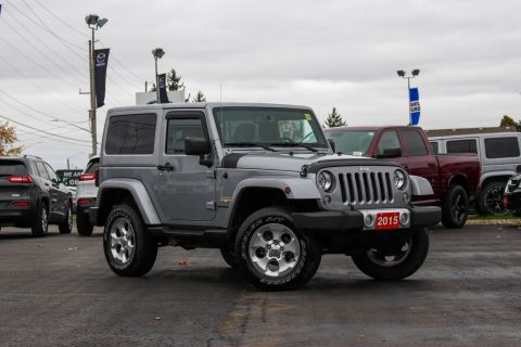 Pre-Owned 2015 Jeep Wrangler | Sahara | GPS | Heated Seats | Alpine Stereo With Navigation & 4WD