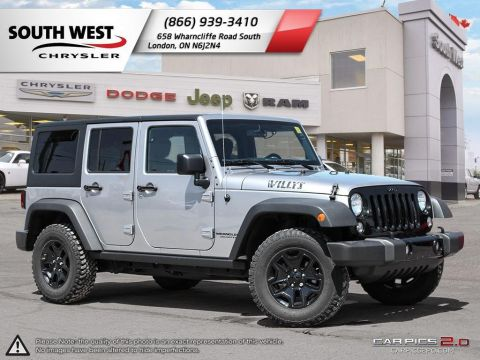 Pre-Owned 2017 Jeep Wrangler Unlimited | Willys | Dual Top | A/C | Alpine Stereo | 4WD