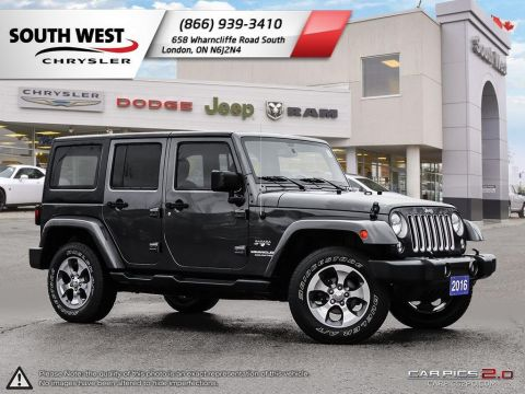 Pre-Owned 2016 Jeep Wrangler Unlimited | Sahara | GPS | Bluetooth | A/C | Sirius Radio |