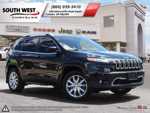 Pre-Owned 2015 Jeep Cherokee | Limited | Leather Vented Seats | GPS | Heated Seats & Wheel With Navigation & 4WD
