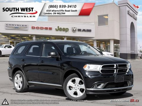 Pre-Owned 2014 Dodge Durango | Limited | Sunroof | BluRay | 8.4 Screen | Leather | Heated Seats AWD