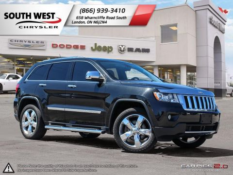 Pre-Owned 2012 Jeep Grand Cherokee | Overland | Leather | Sunroof | Rear DVD With Navigation & 4WD