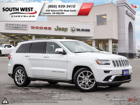 Pre-Owned 2015 Jeep Grand Cherokee | Summit | GPS | Dual Pane Sunroof | Leather Vented Seats 4WD