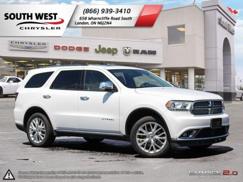 Pre-Owned 2015 Dodge Durango | Citadel | Leather | GPS | Adaptive Cruise | Blindspot With Navigation & AWD