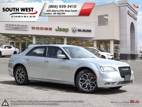 Pre-Owned 2018 Chrysler 300 | S | AWD | GPS | Leather | Dual Pane Moonroof With Navigation & AWD