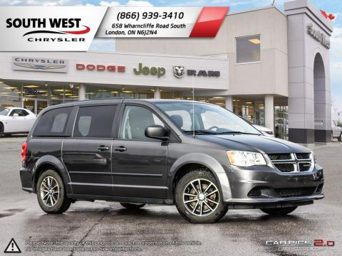 Pre-Owned 2016 Dodge Grand Caravan | SE | Cruise | Bluetooth | Leather-Wrapped Steering Wheel FWD Mini-van, Passenger