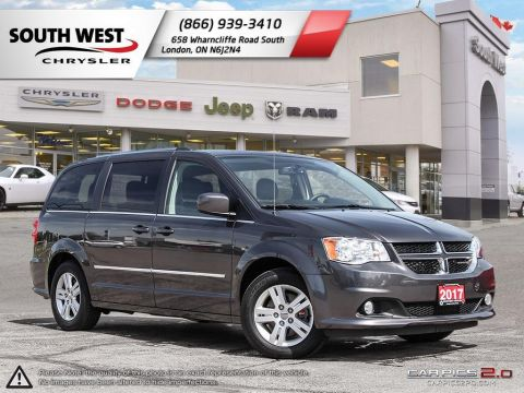 Pre-Owned 2017 Dodge Grand Caravan | Crew Plus | Leather | Power Tailgate | Bluetooth FWD Mini-van, Passenger
