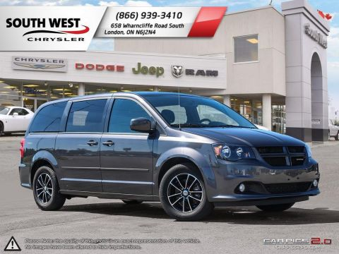 Pre-Owned 2017 Dodge Grand Caravan | GT | Heated Seats & Wheel | TriZone Climate Control FWD Mini-van, Passenger