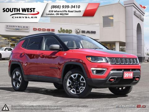 Pre-Owned 2018 Jeep Compass | Trailhawk | GPS | Leather | Remote Start | Advanced Safety Grp With Navigation & 4WD