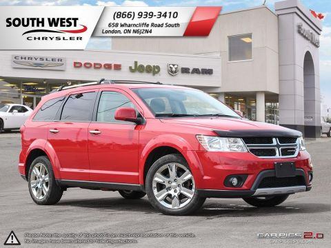 Pre-Owned 2015 Dodge Journey 7 Passenger | R/T | Sunroof | DVD | GPS | V6 | Leather With Navigation & AWD