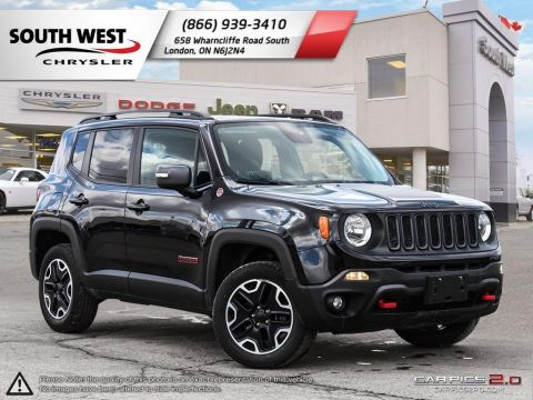 Pre-Owned 2016 Jeep Renegade | Trailhawk | SkyRoof | Heated Seats & Wheel | Parkview | Remote Start 4WD