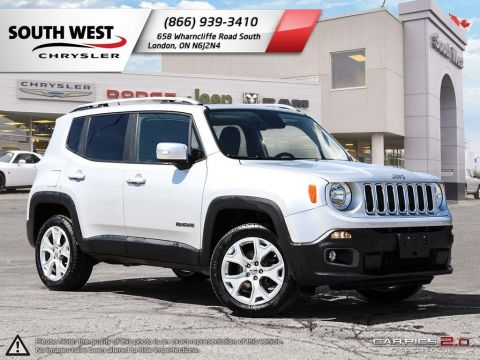 Pre-Owned 2016 Jeep Renegade | Limited | Advanced Safety Grp | MySky Roof | GPS With Navigation & 4WD